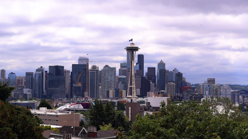 A general view of the Seattle, Washington skyline