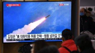 file footage of North Korea's missile test
