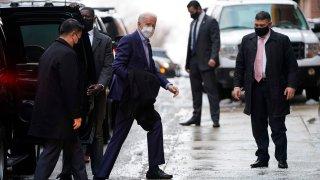 U.S. President-elect Joe Biden arrives at the Queen Theater
