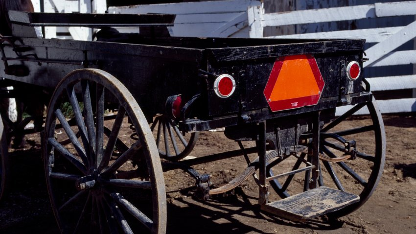 An open buggy in Amish Country, Lancaster, Pennsylvania