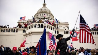 In this Jan. 6, 2021, file photo, pro-Trump supporters storm the U.S. Capitol following a rally with President Donald Trump in Washington, D.C.