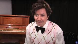 "Jimmy Fallon as Harry Styles on ""The Tonight Show Starring Jimmy Fallon"" on Jan. 4, 2021."