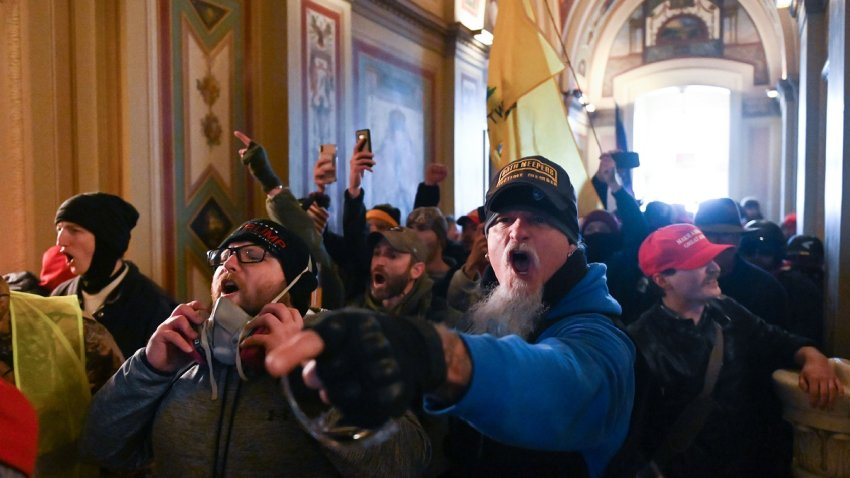 In this Jan. 6, 2021, file photo, supporters of President Donald Trump storm the U.S. Capitol in Washington, D.C.