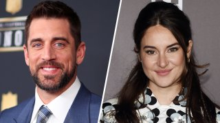 (Left) Aaron Rodgers, (Right) Shailene Woodley.