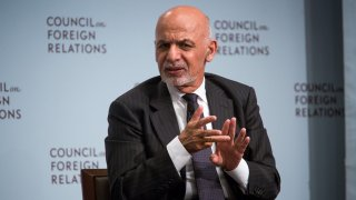 Ashraf Ghani, Afghanistan's president, speaks at the Council on Foreign Relations in New York, U.S., on Thursday, Sept. 21, 2017. President Ghani will discuss the challenges facing Afghanistan, including its fight against terror groups and his country's relationship with the United States.