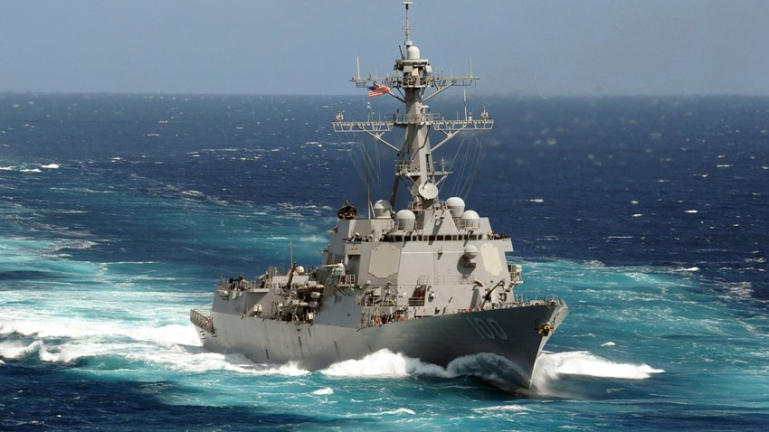 FILE - This May 18, 2011 photo made available by the U.S. Navy shows the guided-missile destroyer USS Kidd in the Pacific Ocean.
