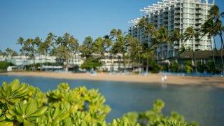 the famous beachside resort of the Kahala Hotel in Honolulu, Hawaii.