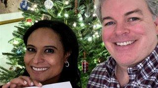 Kristen Welker and husband John Hughes