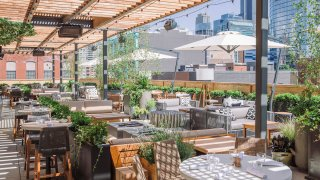Aba Chicago rooftop patio