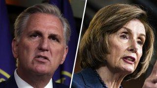 House Minority Leader Rep. Kevin McCarthy and House Speaker Nancy Pelosi.