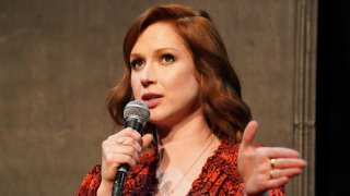 """LOS ANGELES, CALIFORNIA - MAY 29: Ellie Kemper participates in Universal Television's FYC """"Unbreakable Kimmy Schmidt"""" panel at UCB Sunset Theater on May 29, 2019 in Los Angeles, California."""