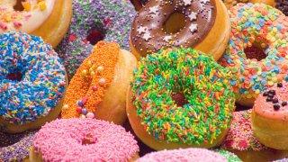 Assortment of doughnuts.