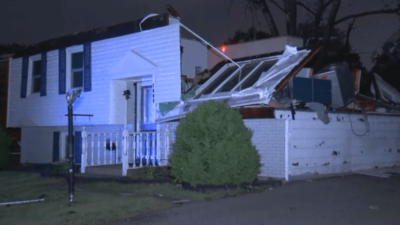 Photos: Homes Damaged, Trees Toppled by Tornado in DuPage County