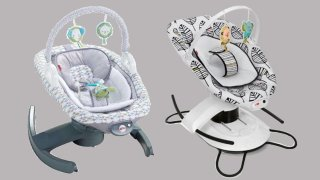 A photo of two baby products Fisher-Price has recalled.