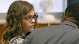 Anissa Weier listens to defense attorney Joseph Smith Jr. during closing arguments in her case before Waukesha County Circuit Court Judge Michael Bohren on Friday, Sept. 15, 2017, in Waukesha, Wis. Weier is accused of helping her friend stab their classmate nearly to death to please online horror character Slender Man.