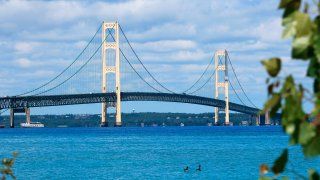 Strait of Mackinac Bridge in northern Michigan