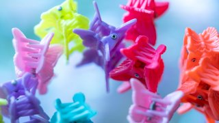 butterfly-shaped hair clips