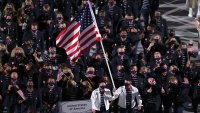 Eddy Alvarez Surprises Emotional Parents as He Carries Flag for Team USA at Tokyo Olympics Opening Ceremony