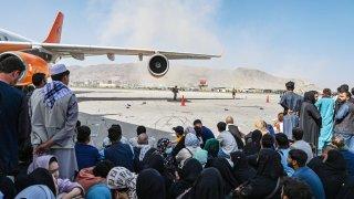 Kabul airport Afghanistan Taliban