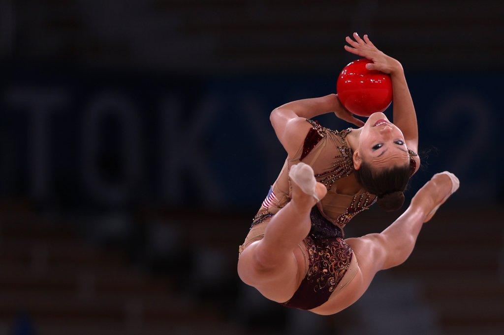 Evita Griskenas of Team United States competes