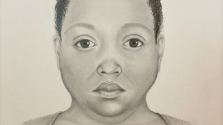A sketch of a woman who was pulled from Lake Michigan earlier this month. She had brown eyes and black hair, likely pulled back into a bun.