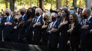 Joe Biden, Jill Biden, Barack Obama, Michelle Obama, Bill Clinton, Hillary Clinton, Michael Bloomberg, New York City Commemorates 20th Anniversary Of 9/11 Terror Attacks