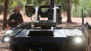 Israel Army Robot semi-autonomous