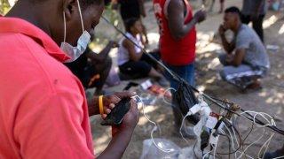 Haitian immigrant phone
