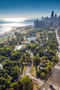 Aerial photo of the 2017 Chicago Marathon