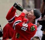You Stay Classy, Kaner! Right Winger Celebrates at Hawks Parade