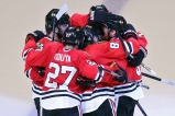 Kane post goal huddle