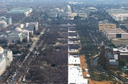 Compare the Crowds: Obama and Trump Inaugurations