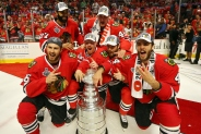 Hawks Celebrate On Ice
