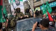 Palestinians parade