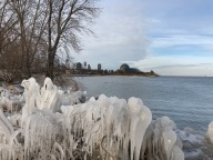 [UGCCHI-CJ][EXTERNAL] Iced over Northerly Island photos