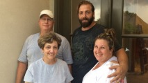 Family Works to Recover from Flood