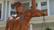 Hinsdale Couple's Lady Justice Statue Can Stay, Judge Rules