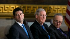 Lawmakers Negotiate as Shutdown Takes Effect