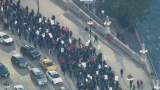 CTU Holds March, Rally Downtown Ahead of Lightfoot Speech