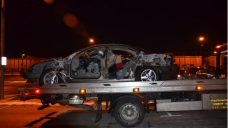 Car Struck by Freight Train After Man Drove Onto Platform
