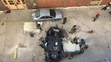 Car Plunges From Indianapolis Parking Garage, Killing 2