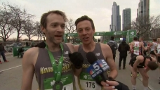 Shamrock Shuffle Winner Shares Finish Line Moment with Competitor