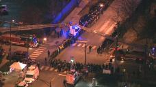 Police Line Streets For Procession of Slain Officer