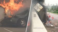 Fiery Big Rig Crash Snarls Morning Commute O       GLONAABOT