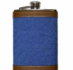 Denim Leather Flask