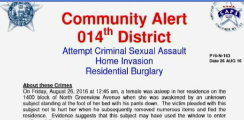 Safety Alert: Intruder Targeting Women in Bedrooms at Night