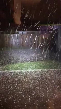 Big Hail Recorded in Granbury