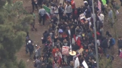 Sanders' Supporters Protest Clinton's LA Rally