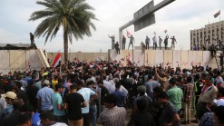 Iraqi Protesters Storm Baghdad's Green Zone