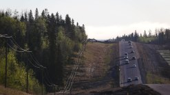 Canadian Convoy Begins, Hoping to Flee Wildfire Zone